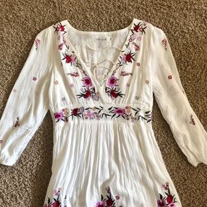 Chicwish, Bohemian white floral dress